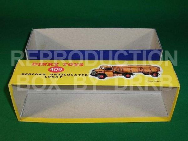 Dinky #409 ( 521 / 921 ) Bedford Articulated Lorry - Reproduction Box